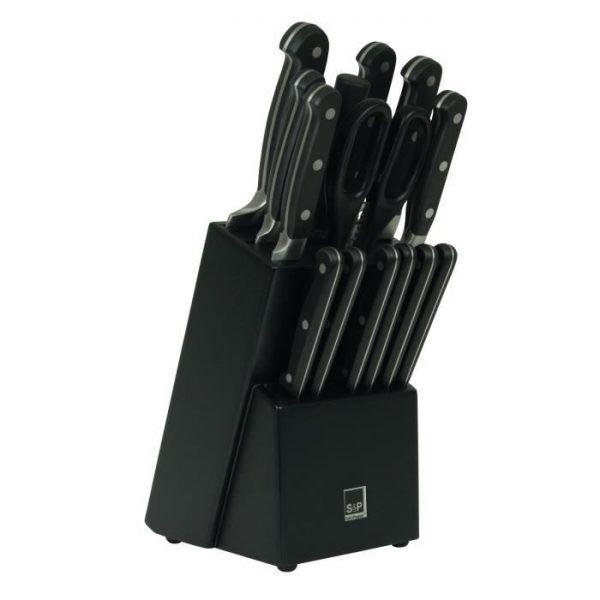 Couteau - SP Bloc couteau Blade - 15 pièces -Noir - par Claudy Lebreton