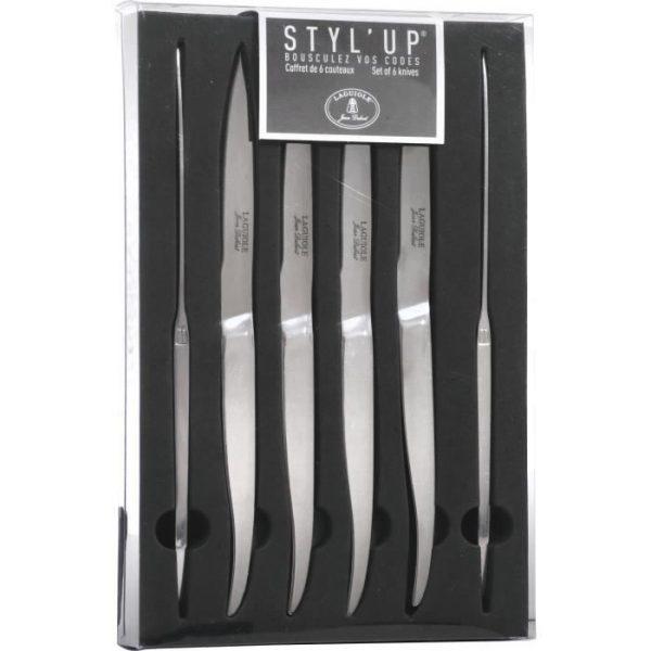 Couteau - Set de 6 couteaux tout inox Laguiole Styl'Up - par Claudy Lebreton