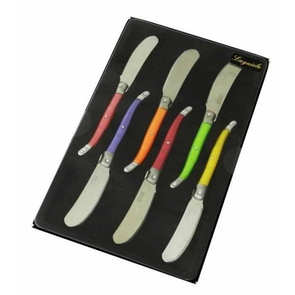 Couteau - LAGUIOLE Boite 6 Tartineurs pastel - par Claudy Lebreton